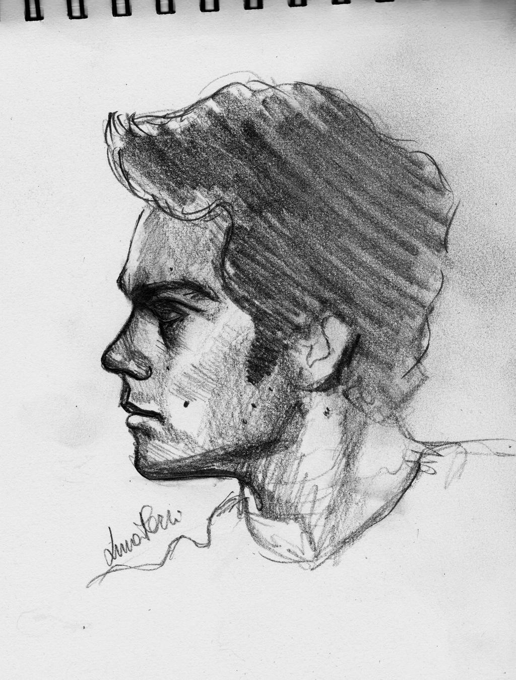 Dylan O' Brien fast sketch by Bluecknight