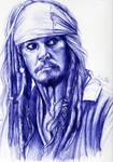 Jack Sparrow pen sketch