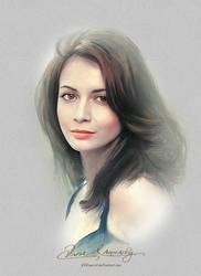Pretty Face - Dia Mirza by artistamroashry