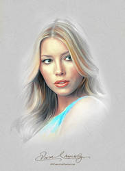 Pretty Face - Jessica Biel by artistamroashry