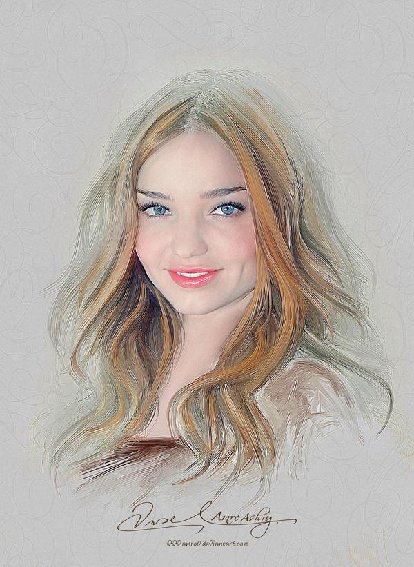 Pretty Face - Miranda Kerr by Amro0
