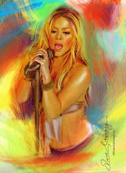 Live the music - Shakira 2 by artistamroashry