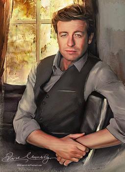 In the morning - Simon Baker ( Patrick Jane )