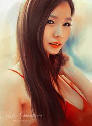 Asian Beauty 15 - A portrait of my friend by artistamroashry