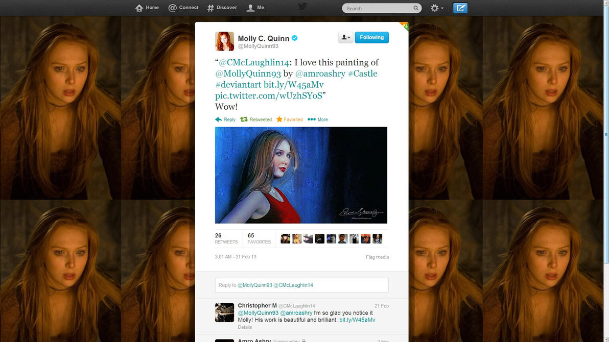 molly quinn s comment by artistamroashry on deviantart