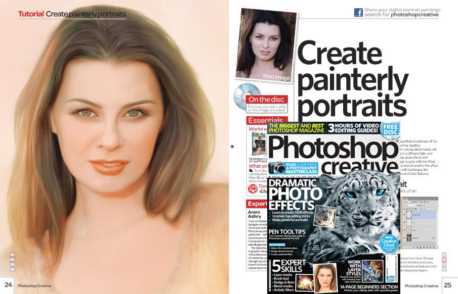 Create Painterly Portraits Photoshop Creative UK by artistamroashry