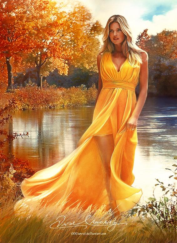Autumn Girl by artistamroashry