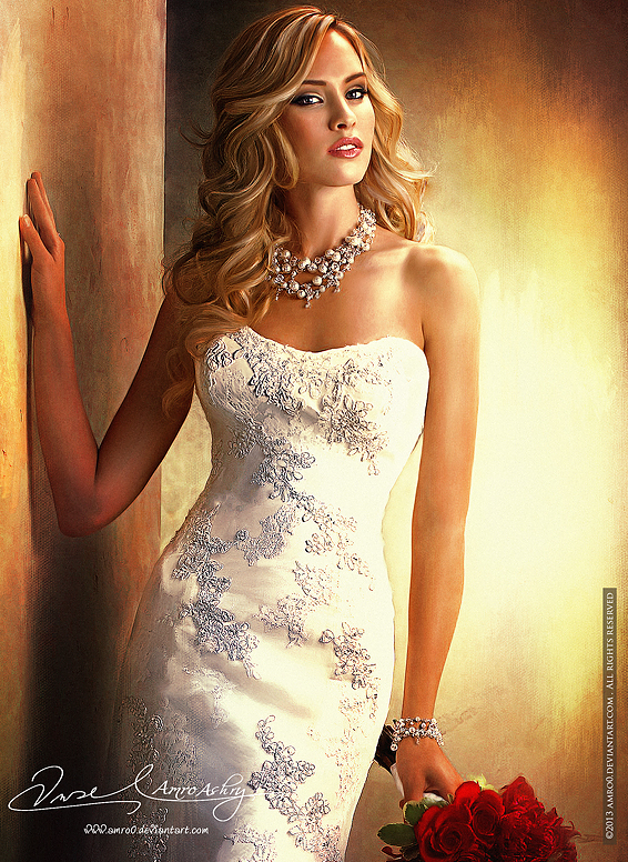 Beautiful In White 19 ( Commissioned Artwork ) by Amro0