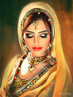 Beautiful Indian Bride by artistamroashry