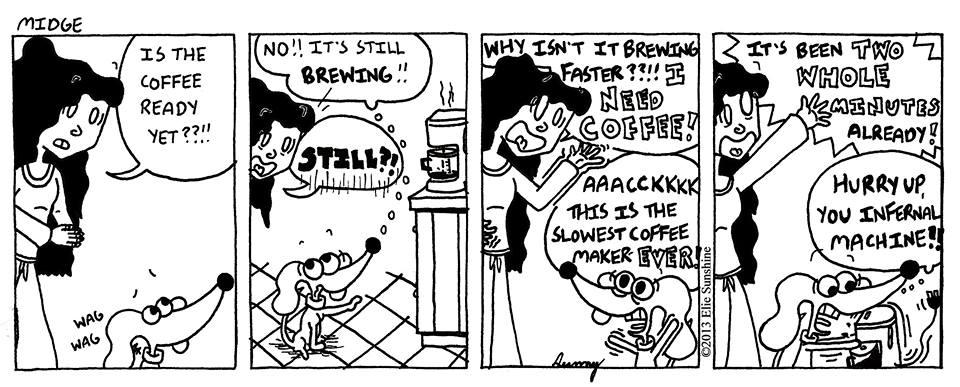 Midge Comic 'Slowest Coffee Maker Ever' by SunnyArts