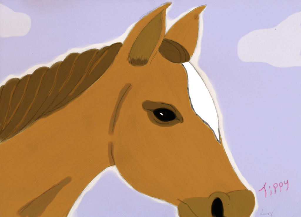 Tippy Horse Portrait by SunnyArts