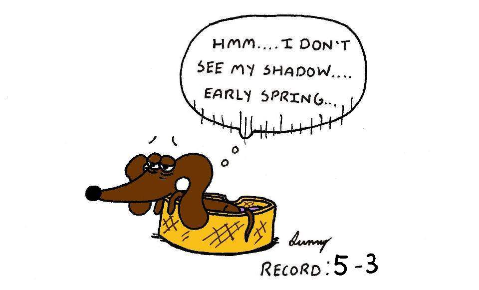 Midge's 8th Annual Groundhog's Day Prediction 2016 by SunnyArts