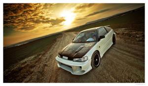 Honda CRX On Sunset 03