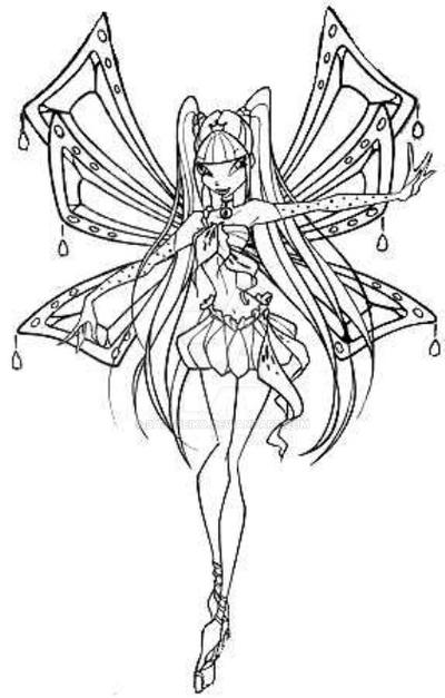 Kleurplaten Winx Enchantix.Kleurplaat Winx Club Stella Baby Coloring Pages Winx Club Az