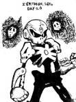 Inktober 2016 Day 20: Skull Man by Fragraham