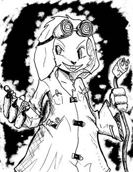 Inktober 2016 Day 30: Mad Scientist Pooky