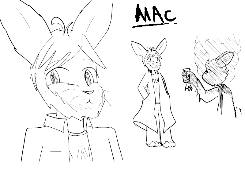 Backer Based Bunny: Mac by Fragraham