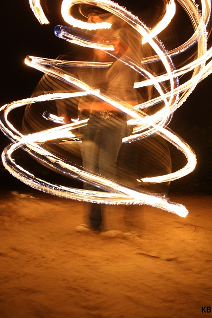 Fire hoop by dancekellydance