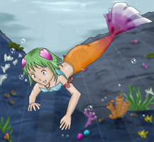 Leia the Mermaid by SesshomaruLOVESme