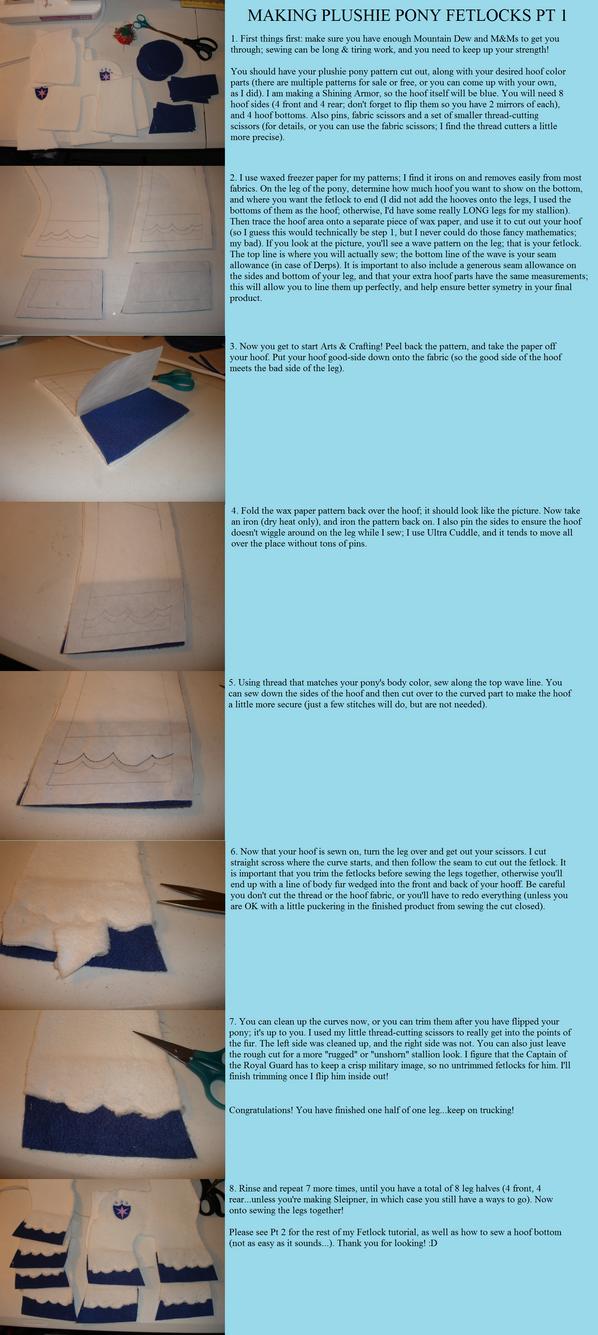 Making Pony Plushie Fetlocks Pt 1 by Drachefrau