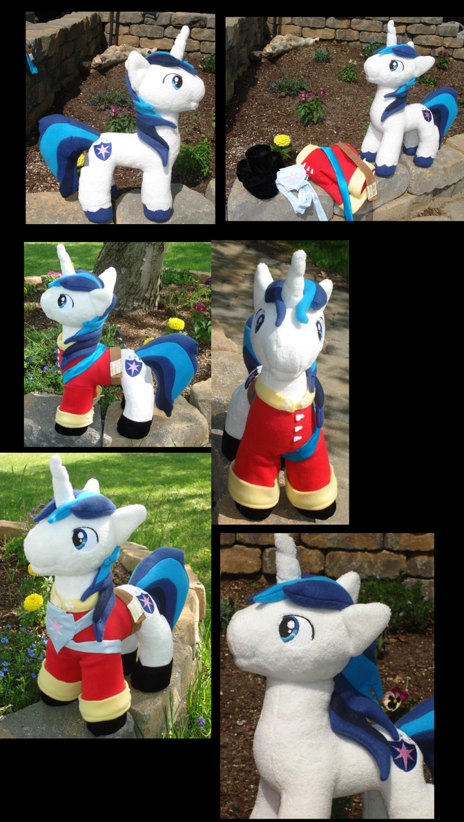 Wedding Attire  Shining Armor Plushie Collage by Drachefrau