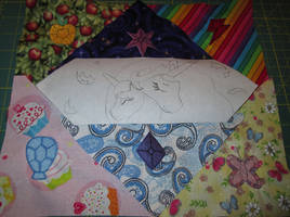 2015 EFN Charity Quilt Square WIP 1 by The-Crafty-Kaiju