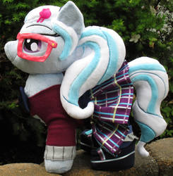 SugarCoat Pony Plush in Crystal Prep Outfit by The-Crafty-Kaiju