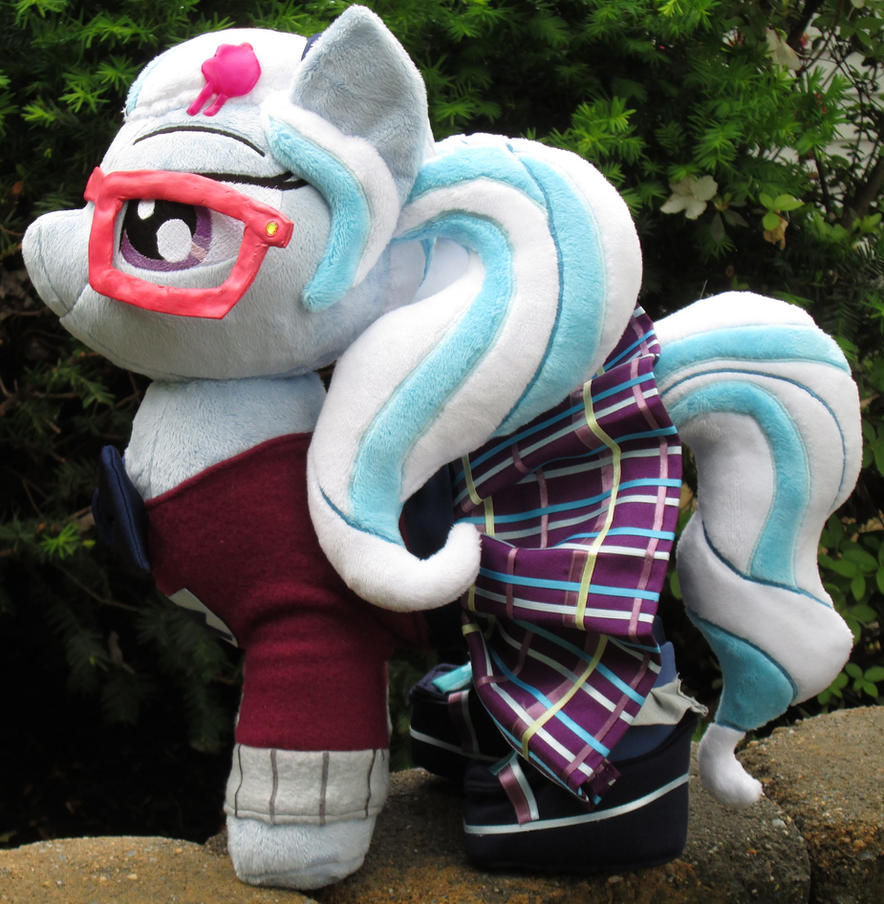 SugarCoat Pony Plush in Crystal Prep Outfit by Drachefrau