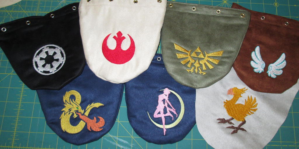 First Batch of Pouches by The-Crafty-Kaiju