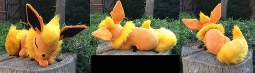 Flareon Plush More Views by The-Crafty-Kaiju