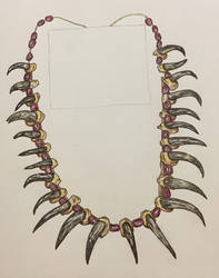 Plains Indian Necklace Study