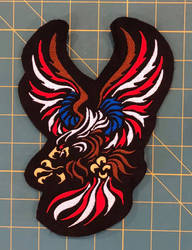 Patriotic Eagle Machine-Embroidered Patch