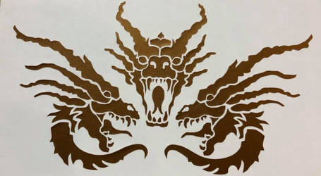 Three-headed Dragon Vinyl Decal