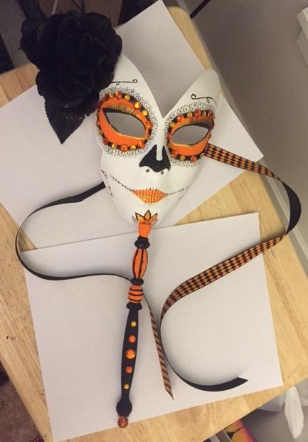 Sugar Skull Makeup Venetian Masquerade Mask by CosmicGrove