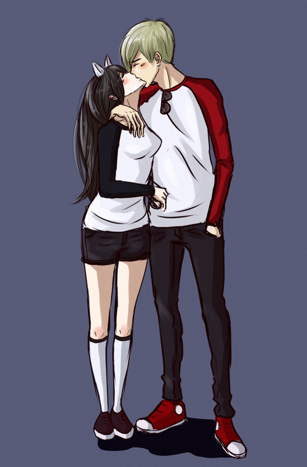 Dave Strider and Jade Harley by Taimuaki