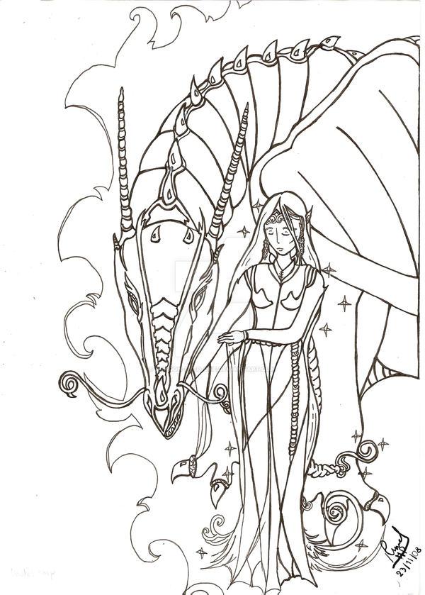 fanart Eragon- -Saphira-Arya Eragon And Arya Drawings