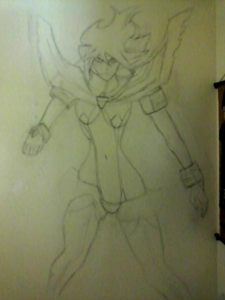 Kamui Senketsu wall sketch by delitiaheiral