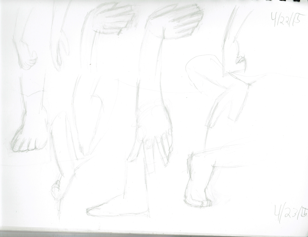 04/22/15 and 04/23/15: Hand and Feet Studies~ by Madtaz64