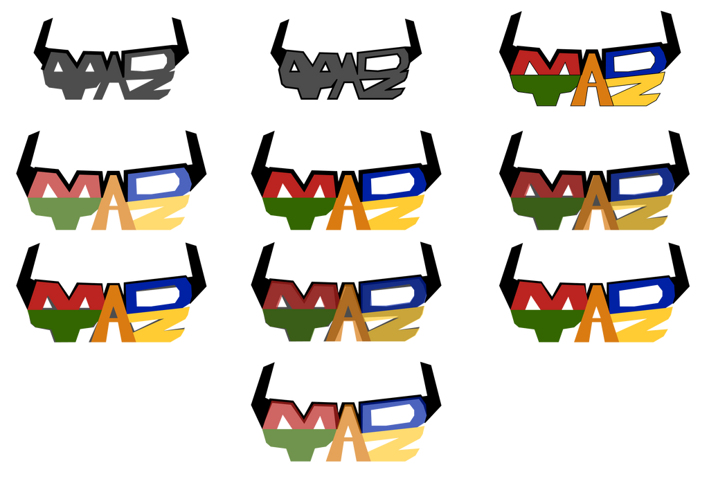 10/14/15-10/24/15: Different colorations of logo by Madtaz64