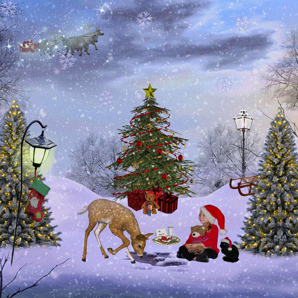 Waiting for Santa in her secret place by WyckedAngel