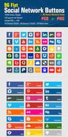 Flat Social Network Buttons