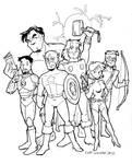 Avengers Group Portrait