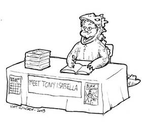Tonyzilla by kurtoons
