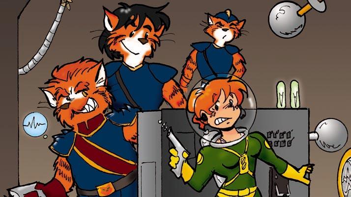 Cat-Men from Mars:  Hunted ! by kurtoons