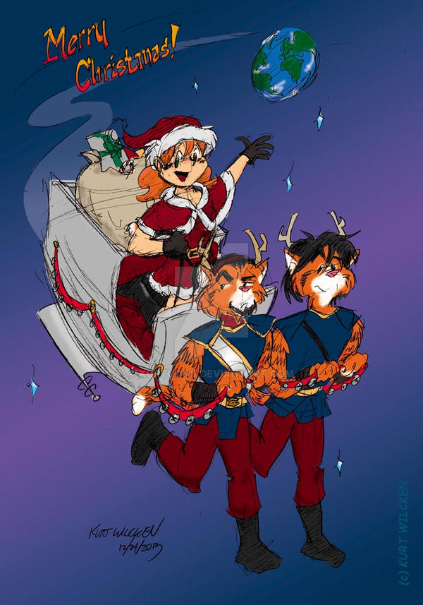 Have a Merry Cat-Men Christmas by kurtoons