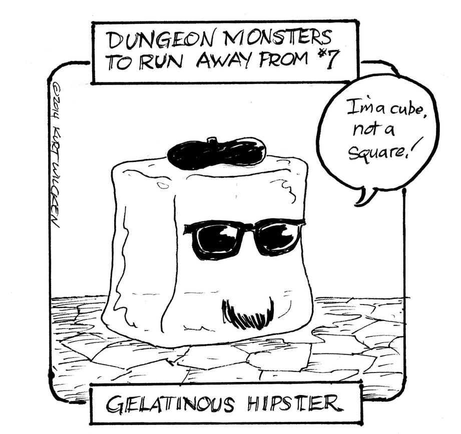 Gelatinous Hipster by kurtoons