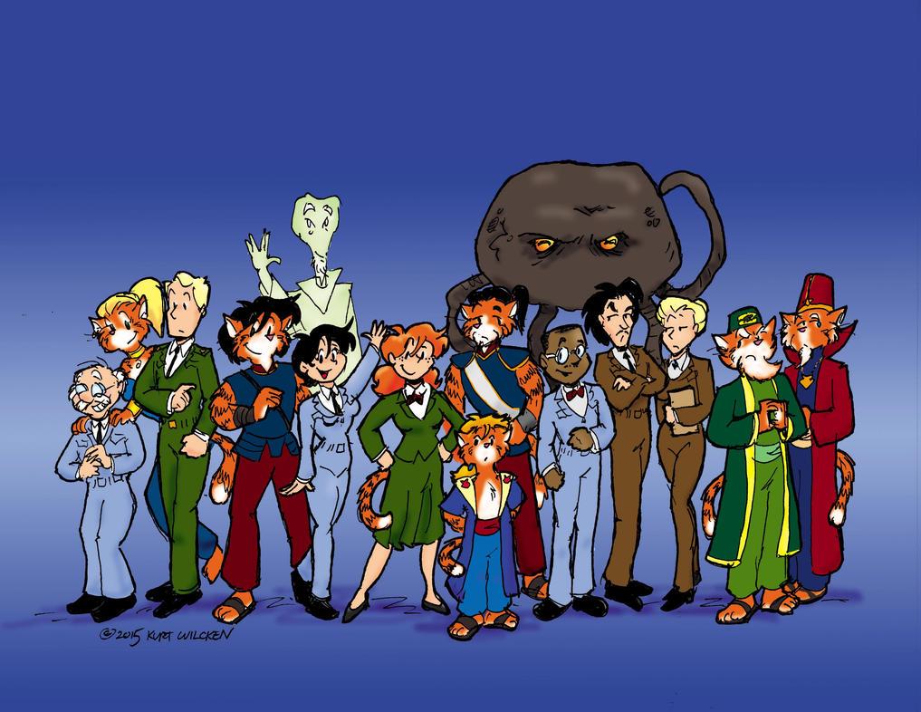 Cat-Men from Mars:  Meet the Cast by kurtoons