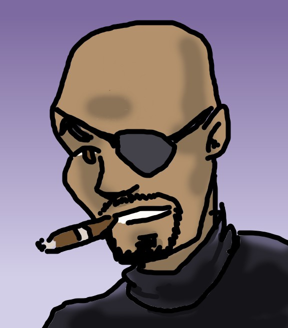 Nickfury Color Experiment by kurtoons