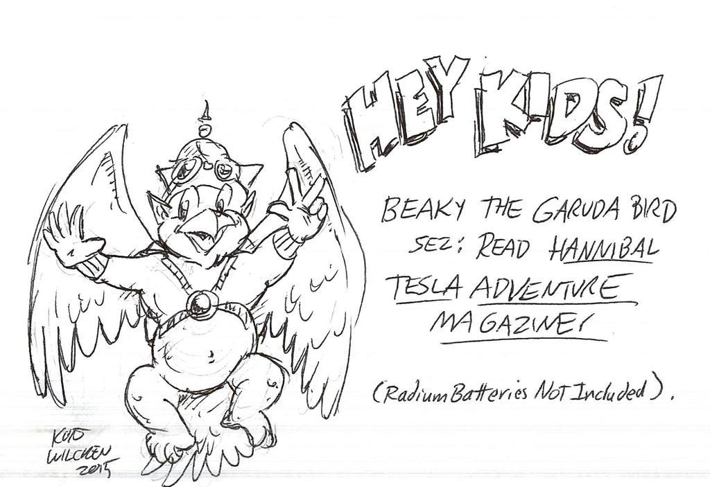 Sketchbook:  Garuda Bird Promo by kurtoons