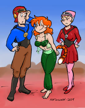 Ginger, Buck and Wilma